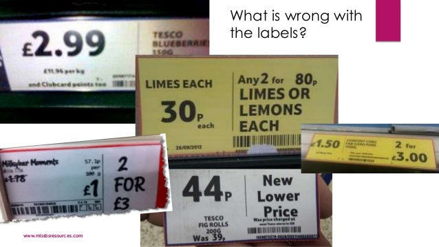 www.missbsresources.com What is wrong with the labels?