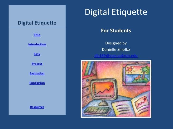 Digital Etiquette Poster- Digital Citizenship, Netiquette ...  Digital Etiquite
