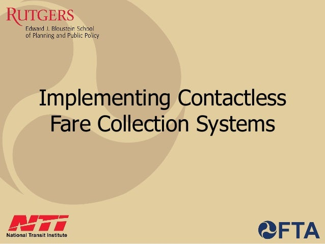 Implementing Contactless Fare Collection Systems