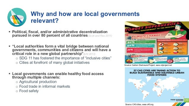 Local governance to improve access to healthy food Slide 2