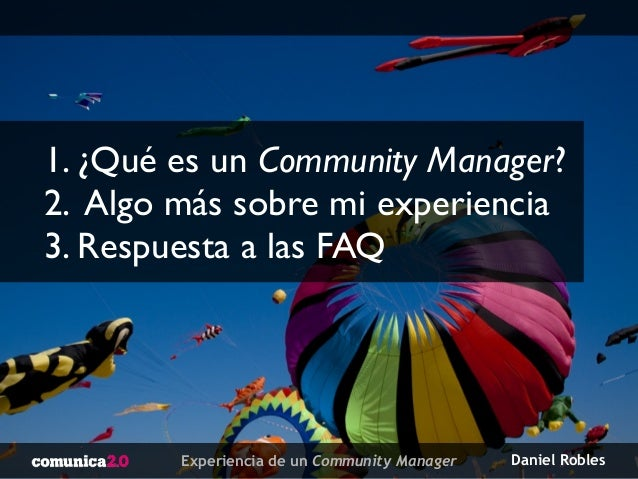 """Experiencia de un Community Manager"" - Congreso Comunica 2.0 Gandía (comunica2gandia) Slide 3"