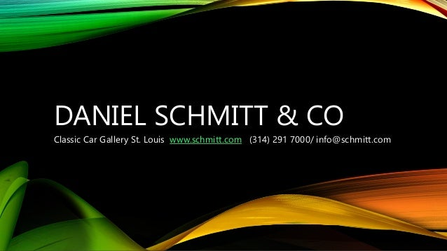 daniel schmitt  u0026 co  classic car gallery st  louis