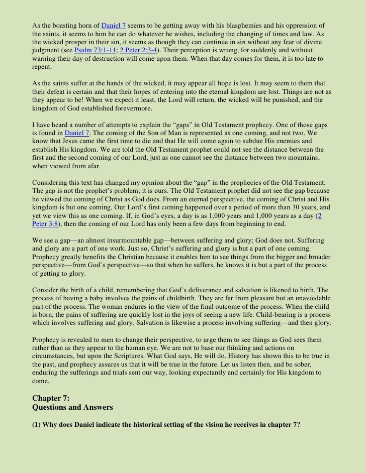 Daniel seven prophecy explained