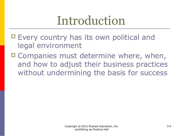 the political and legal environments facing Most issues in the legal/political environment centre around the following:-  the  greatest challenge facing multinational marketers when attempting to cross.