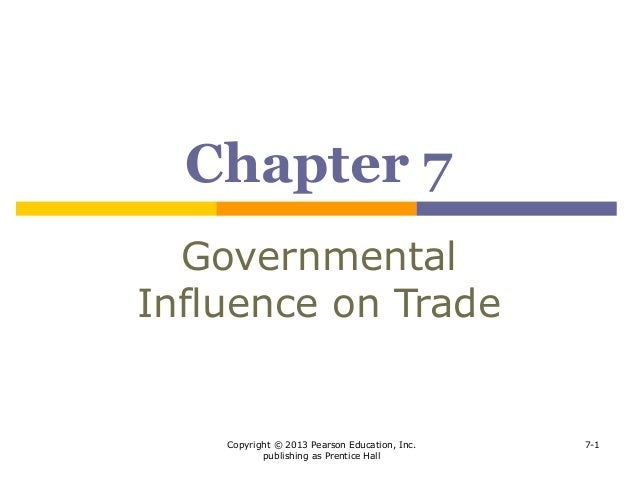 governmental influence on trade International business chapter six governmental influence on trade slide 2 2 rationales for government intervention in trade  3 economic rationales for government.