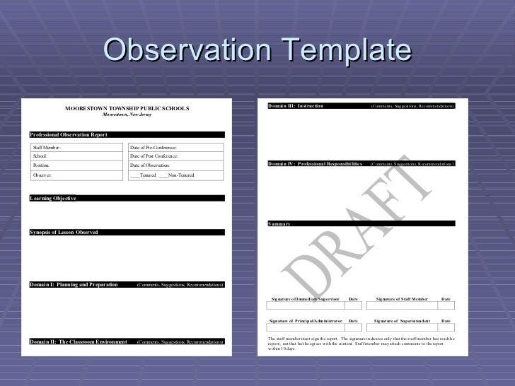 Danielson Observation Model