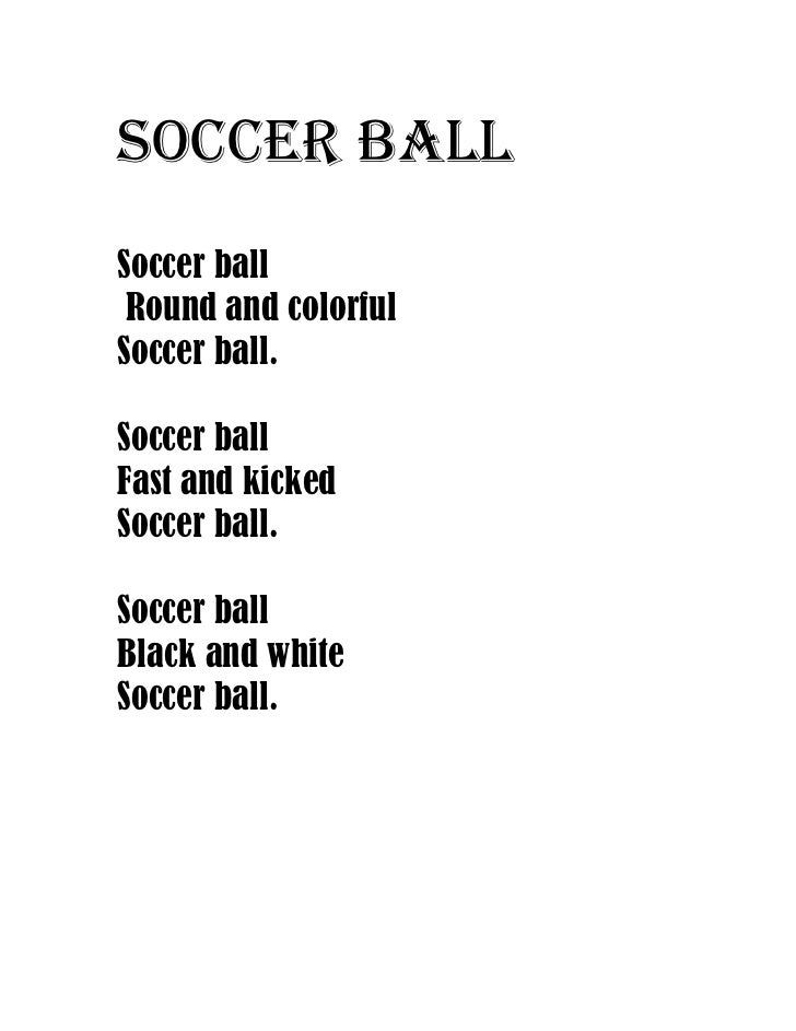 Poems About A Soccer Ball 75