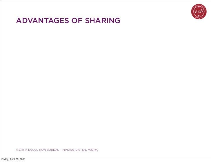 ADVANTAGES OF SHARING               03.04.10 // ORBIT // ORBIT BOULDER DIGITAL CAMPAIGN             4.27.11 // EVOLUTION B...