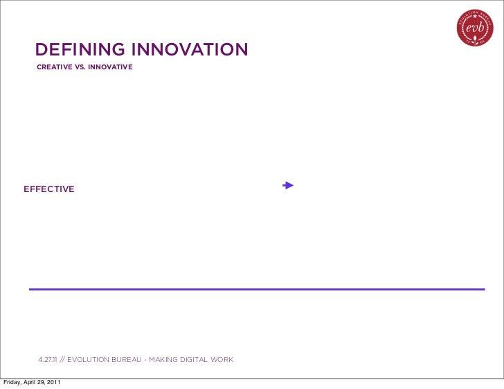 DEFINING INNOVATION            CREATIVE VS. INNOVATIVE       EFFECTIVE               03.04.10 // ORBIT // ORBIT BOULDER DI...