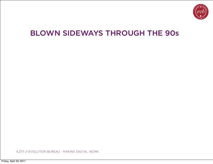 BLOWN SIDEWAYS THROUGH THE 90s               03.04.10 // ORBIT // ORBIT BOULDER DIGITAL CAMPAIGN             4.27.11 // EV...