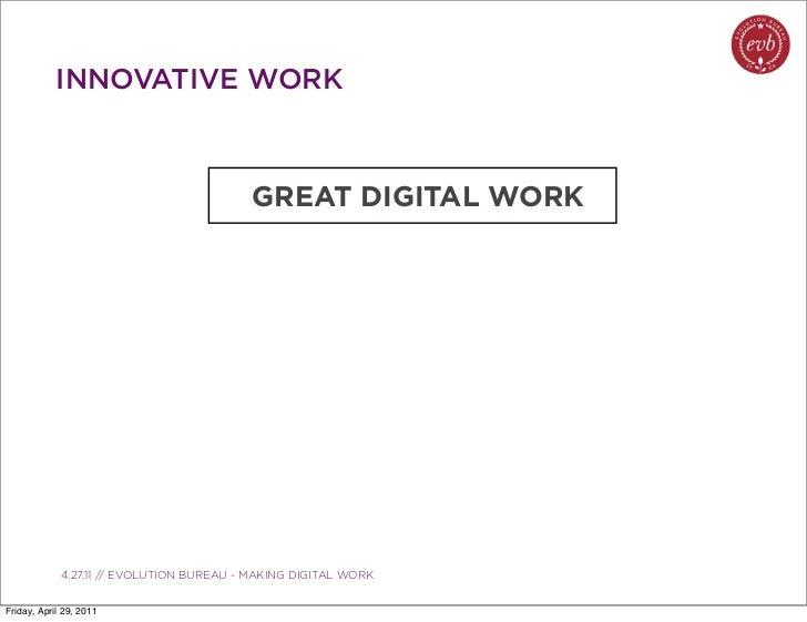 INNOVATIVE WORK                                             GREAT DIGITAL WORK               03.04.10 // ORBIT // ORBIT BO...