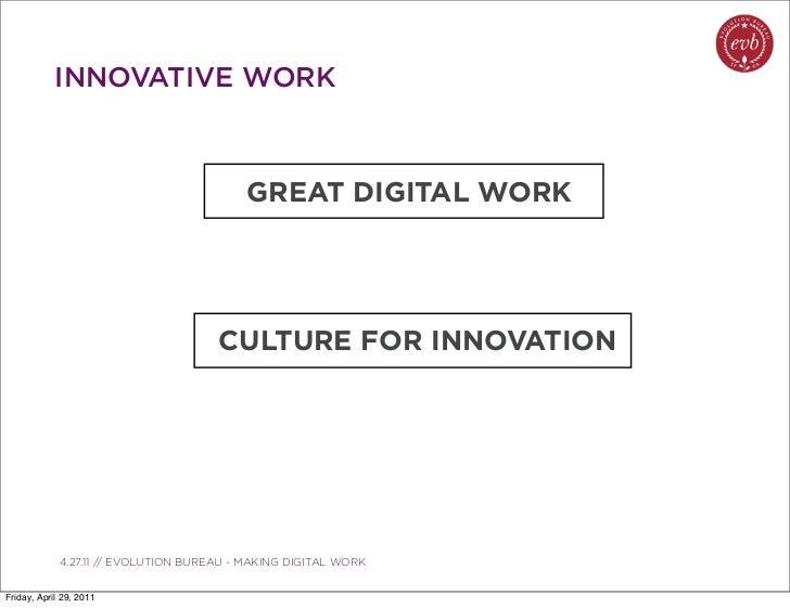INNOVATIVE WORK                                             GREAT DIGITAL WORK                                        CULT...