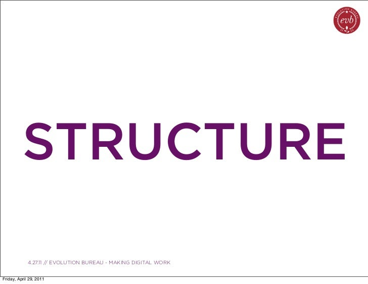 STRUCTURE               03.04.10 // ORBIT // ORBIT BOULDER DIGITAL CAMPAIGN             4.27.11 // EVOLUTION BUREAU - MAKI...