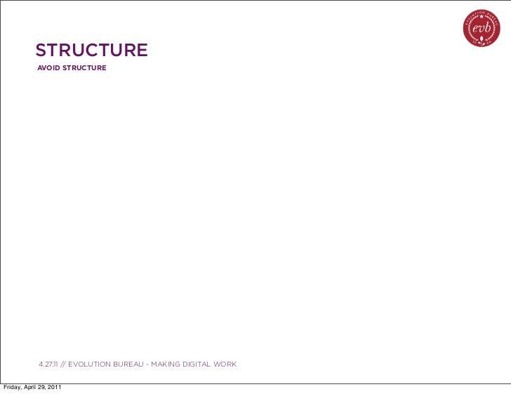 STRUCTURE            AVOID STRUCTURE               03.04.10 // ORBIT // ORBIT BOULDER DIGITAL CAMPAIGN             4.27.11...