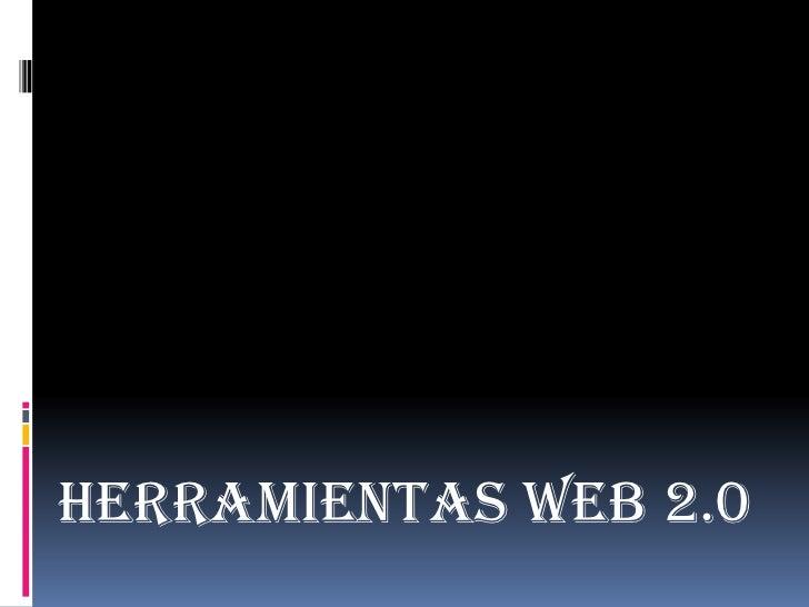 Herramientas web 2.0<br />