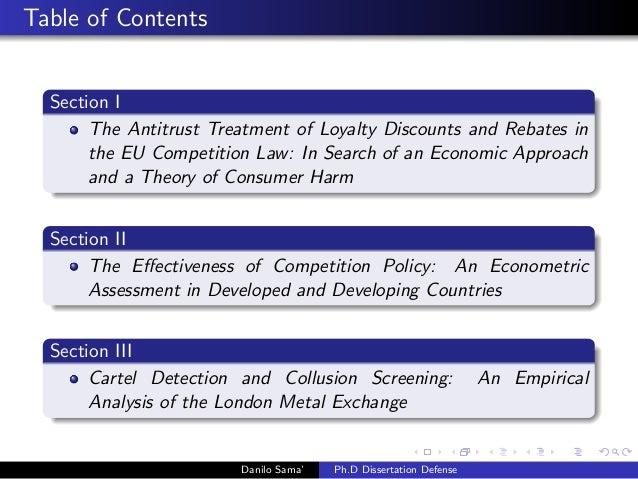Phd . dissertation in economics