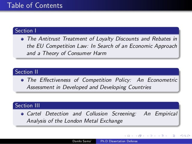 Essays on economic analysis of competition law: theory and practice (Ph.D. dissertation defence) Slide 3