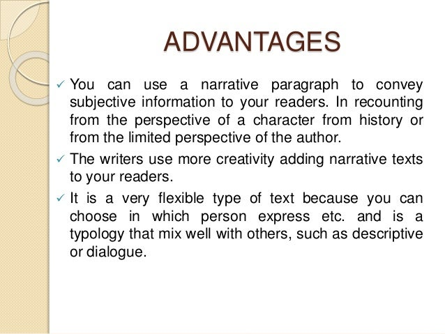 advantages of paragraph writing