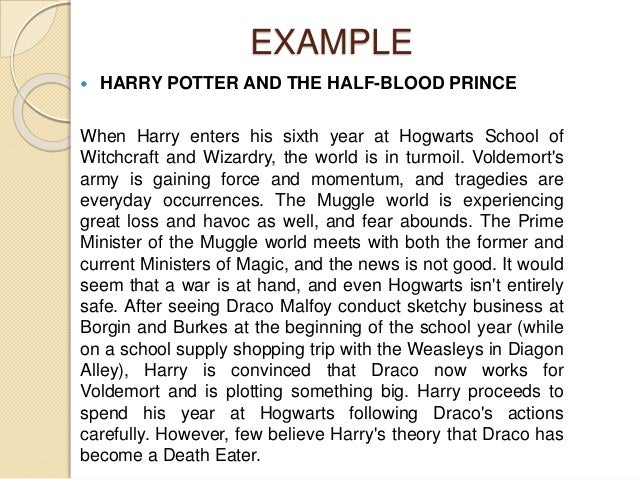 Harry potter persuasive essay