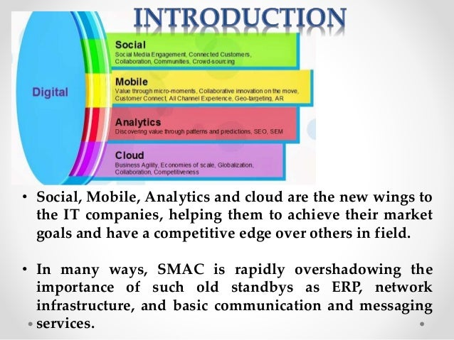 • Social, Mobile, Analytics and cloud are the new wings to the IT companies, helping them to achieve their market goals an...