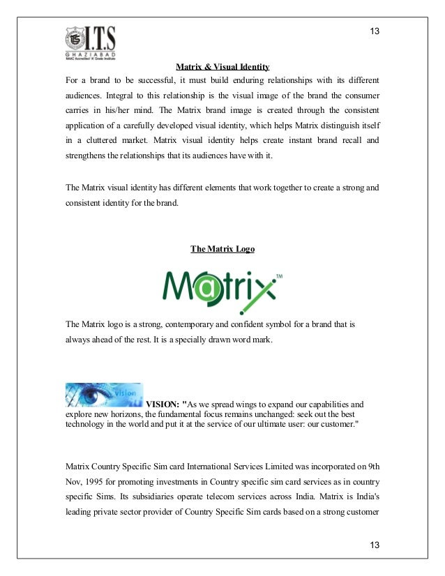 Matrix forex card