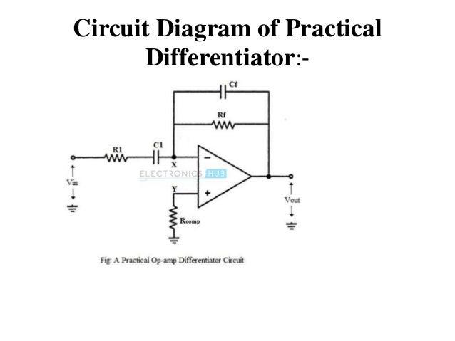 integrator and differentiator op amp rh slideshare net op amp integrator circuit diagram integrator circuit diagram with values