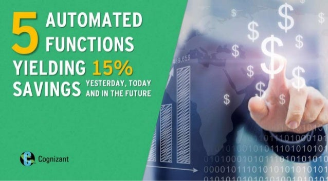 5 Automated Functions Yielding 15% Savings Yesterday, Now and in the Future