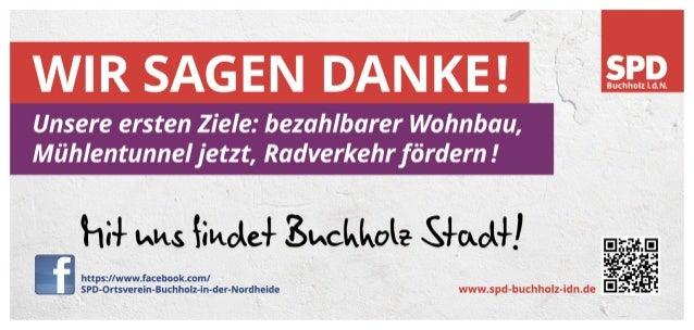 Dankeskarte der SPD Buchholz
