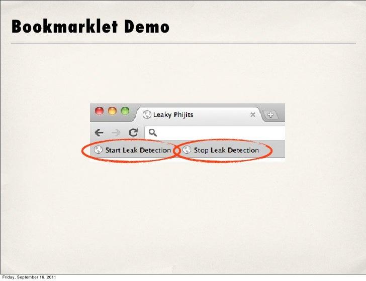 Bookmarklet DemoFriday, September 16, 2011