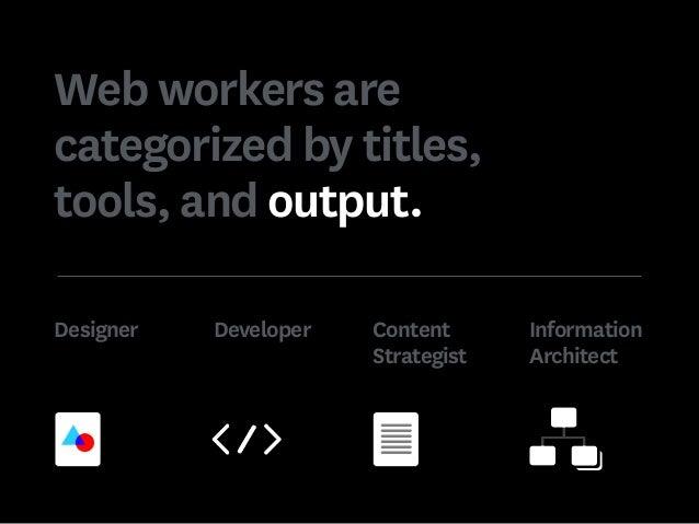 Designer Developer Content Strategist Information Architect