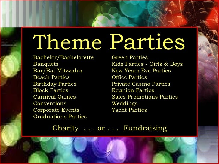 Dan Mar Productions Theme Party Event Planners Planning Coordi…