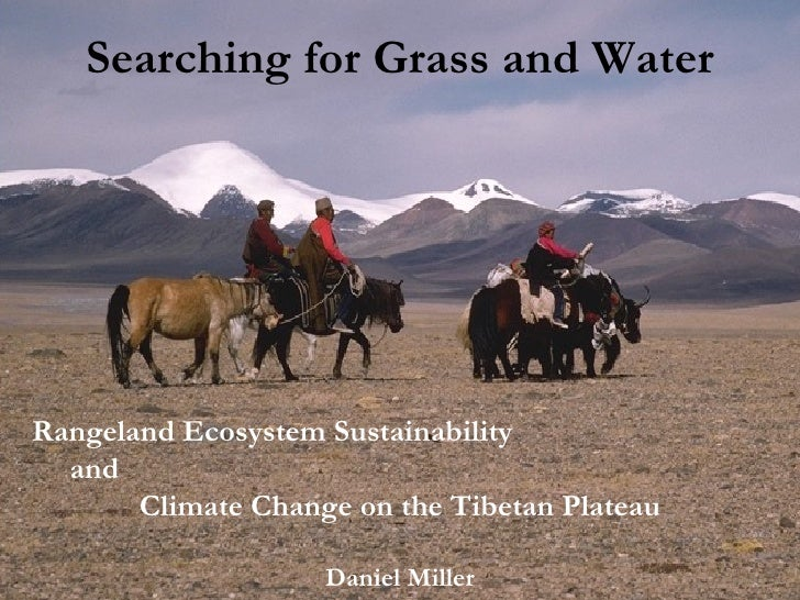 Searching for Grass and Water Rangeland Ecosystem Sustainability  and  Climate Change on the Tibetan Plateau Daniel Miller