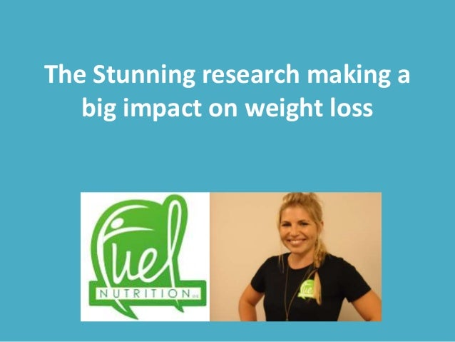 The Stunning research making a big impact on weight loss
