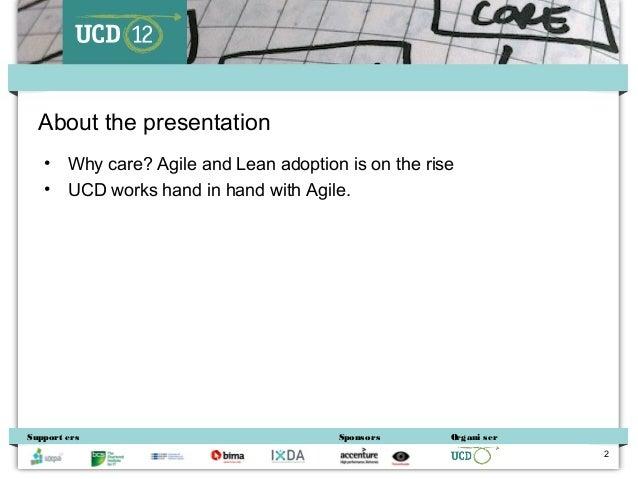 Danny Bluestone - Agile UX – a digital agency's view'. Slide 2