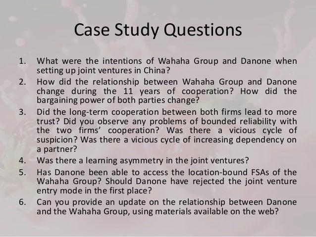 wahaha danone case study
