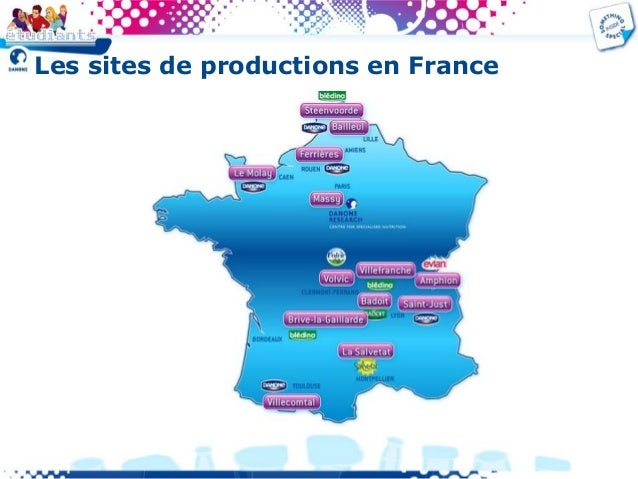 Les sites de productions en France