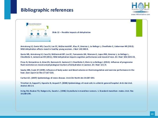 Armstrong LE, Ganio MS, Casa DJ, Lee EC, McDermott BP, Klau JF, Jimenez L, Le Bellego L, Chevillotte E, Lieberman HR (2012...