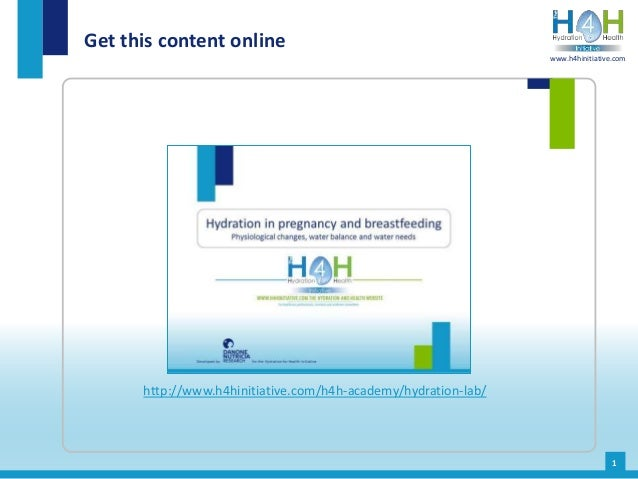 Get this content online 1 http://www.h4hinitiative.com/h4h-academy/hydration-lab/ www.h4hinitiative.com