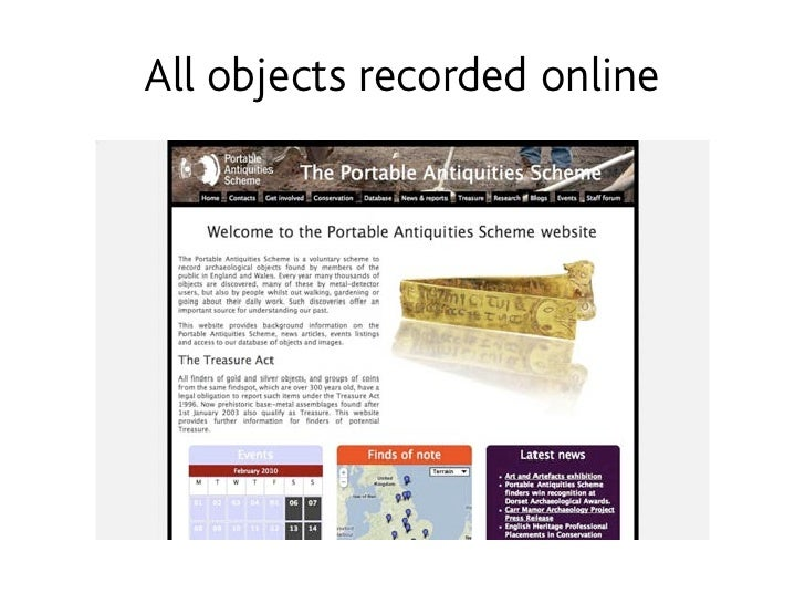 All objects recorded online