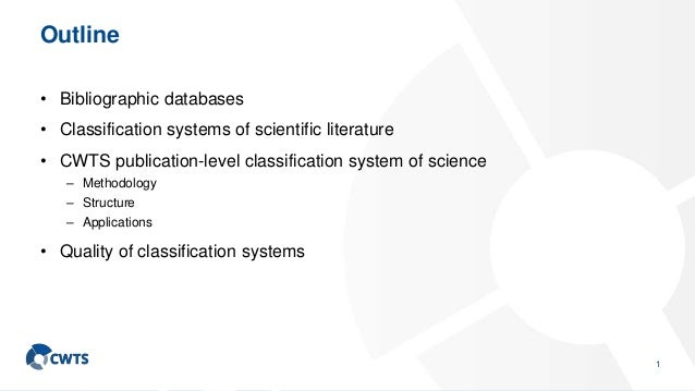 Scientometric approaches to classification Slide 2