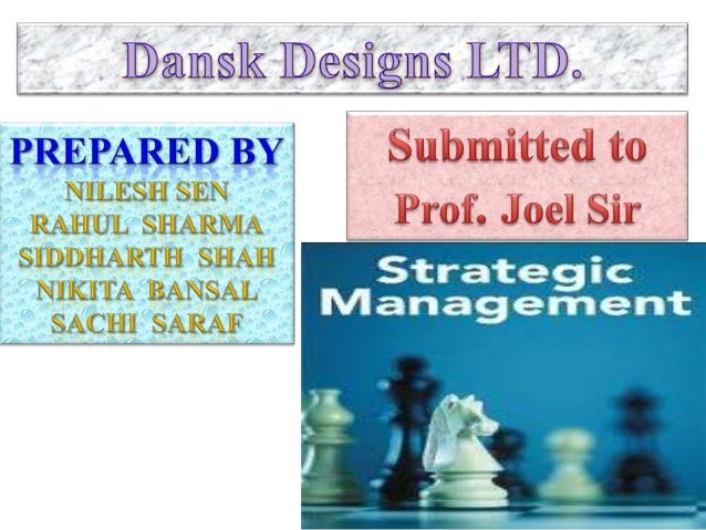 Dansk Designs LTD. was founded in 1965. In 1st year of it's operation sales was $1,00,000/-In 1980 Sales grew to $10,00...