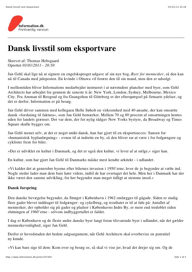 Dansk livsstil som eksportvare                                                                    03/01/11 22.18 Dansk liv...