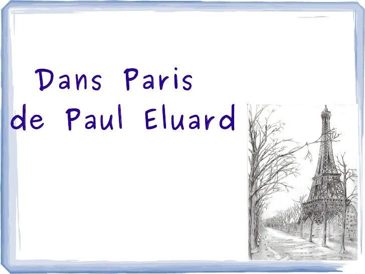 Dans Paris de Paul Eluard