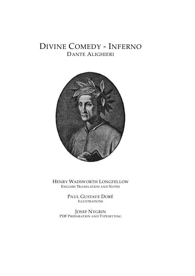 DIVINE COMEDY - INFERNO DANTE ALIGHIERI HENRY WADSWORTH LONGFELLOW ENGLISH TRANSLATION AND NOTES PAUL GUSTAVE DOR ´E ILLUS...