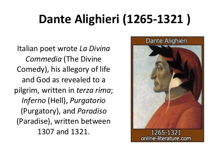 a biography of dante alighieri a medieval italian poet Italian poet, born at aristotelean while his machinery is still that of popular medieval dante alighieri italian poet, born at.