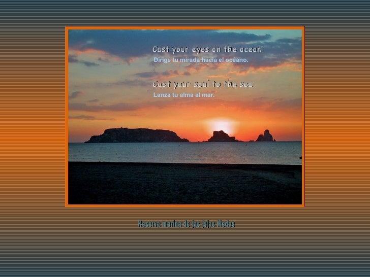 Dirige tu mirada hacia el océano. Lanza tu alma al mar. Cast your eyes on the ocean Cast your soul to the sea Reserva mari...