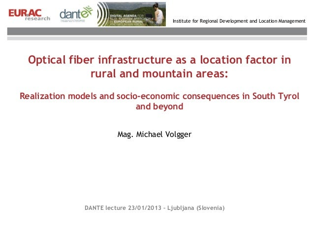 Institute for Regional Development and Location Management Optical fiber infrastructure as a location factor in           ...