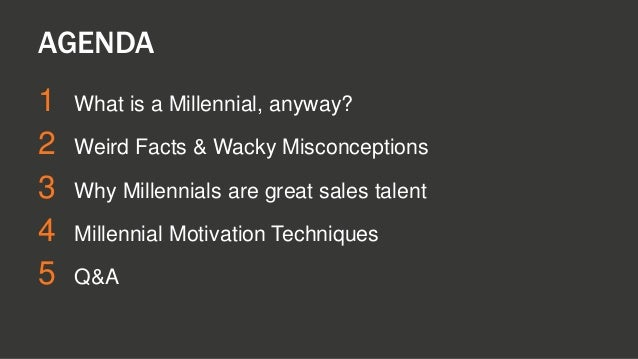One Squared Presentation: Dan Tyre - Hiring & Motivating Sales Millennials Slide 2