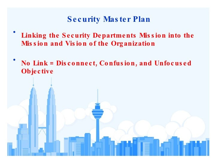Physical security assessment for Security master plan template