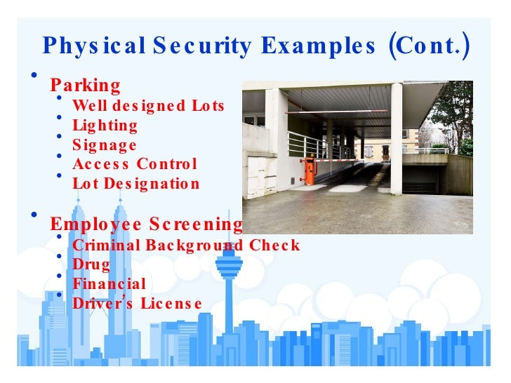 Physical security assessment for Physical access control policy template